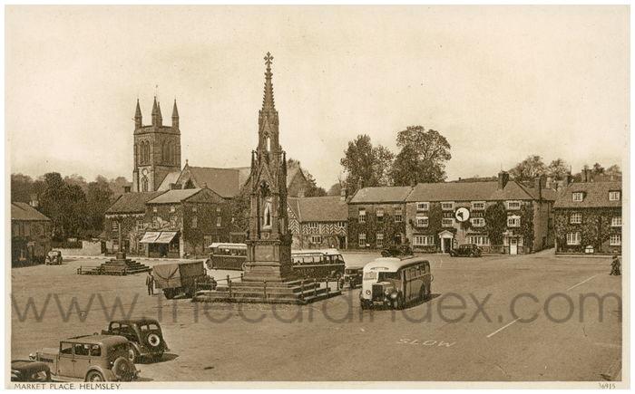 Postcard front: Market Place, Helmsley