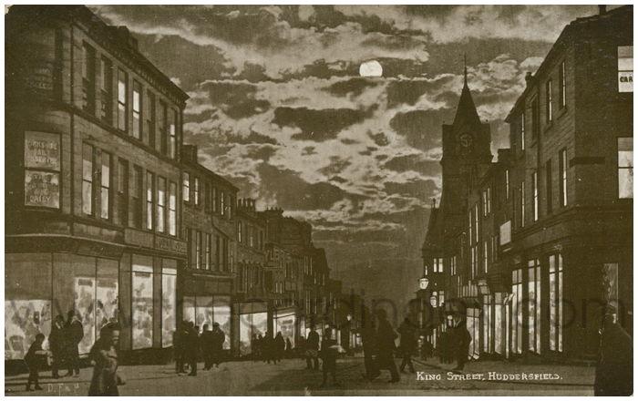 Postcard front: King Street, Huddersfield.