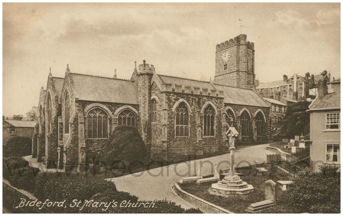 Postcard front: Bideford, St. Mary's Church.