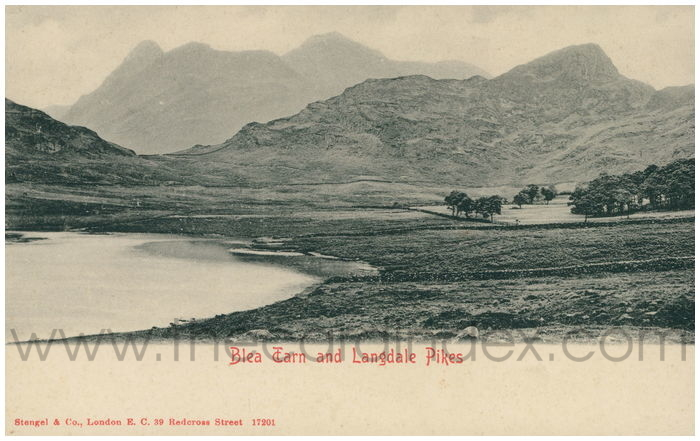 Postcard front: Blea Tarn and Landale Pikes