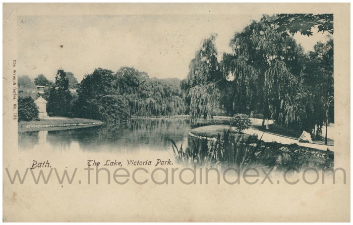 Postcard front: Bath. The Lake, Victoria Park.