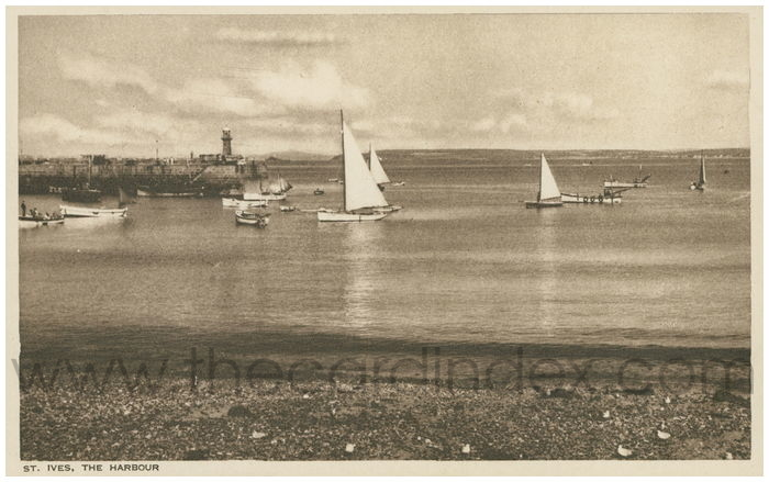 Postcard front: St. Ives, The Harbour