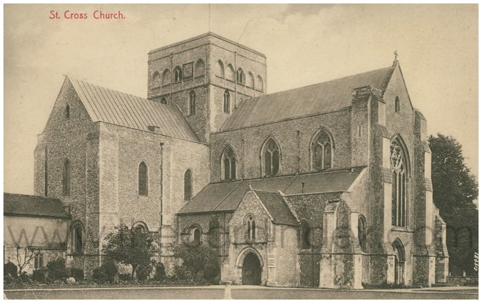 Postcard front: St. Cross Church