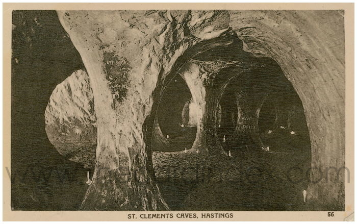 Postcard front: St. Clements Caves, Hastings