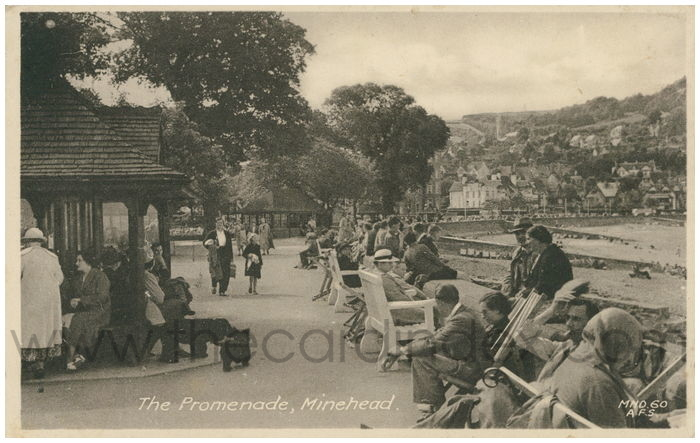 Postcard front: The Promenade, Minehead.