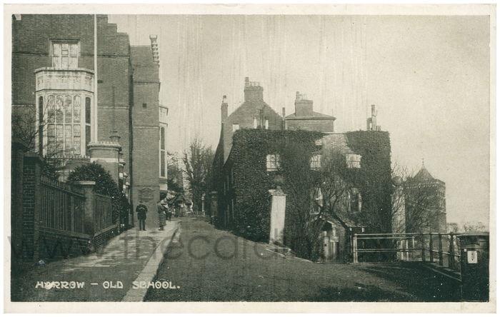 Postcard front: Harrow - Old School.