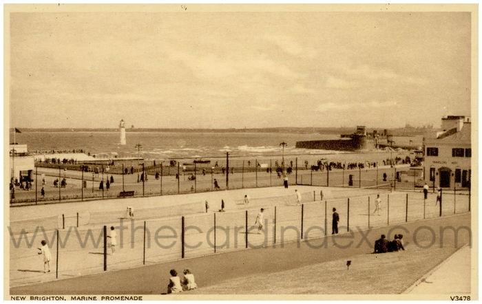 Postcard front: New Brighton, Marine Promenade