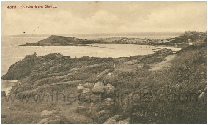 Postcard front: St. Ives from Clodgy