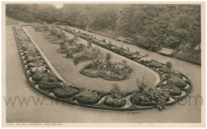 Postcard front: The Italian Garden, Saltburn