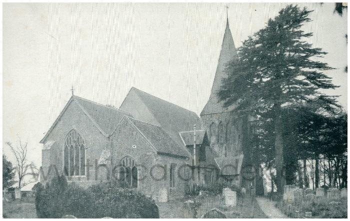 Postcard front: The Parish Church, Herstmonceux