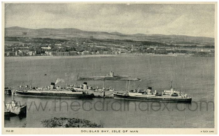 Postcard front: Douglas Bay. Isle of Man.