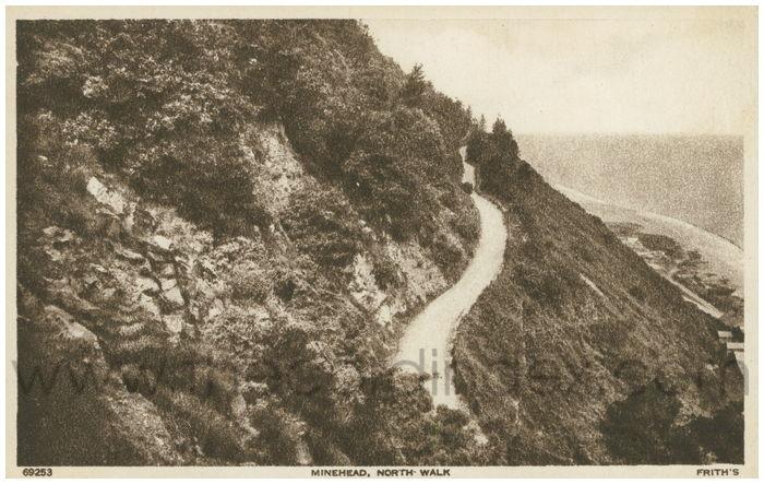 Postcard front: Minehead, North Walk