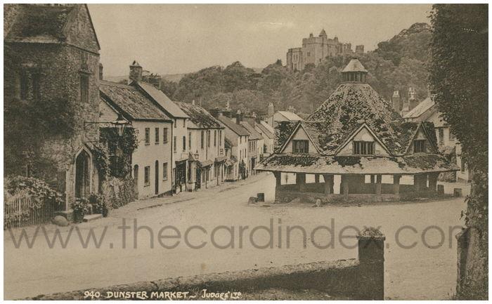 Postcard front: Dunster Market
