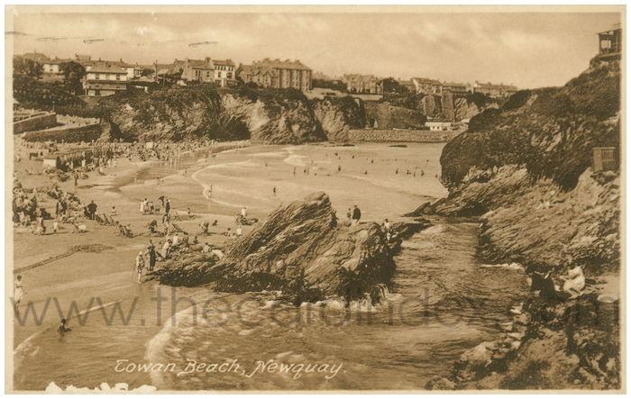 Postcard front: Towan Beach, Newquay