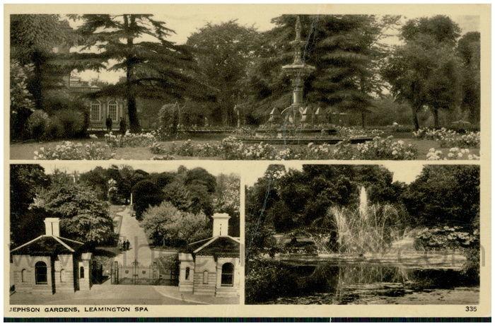 Postcard front: Jephson Gardens, Leamington Spa