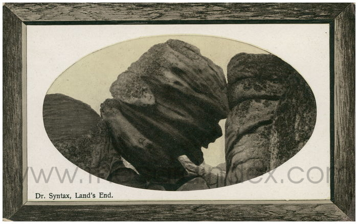 Postcard front: Dr. Syntax, Land's End.
