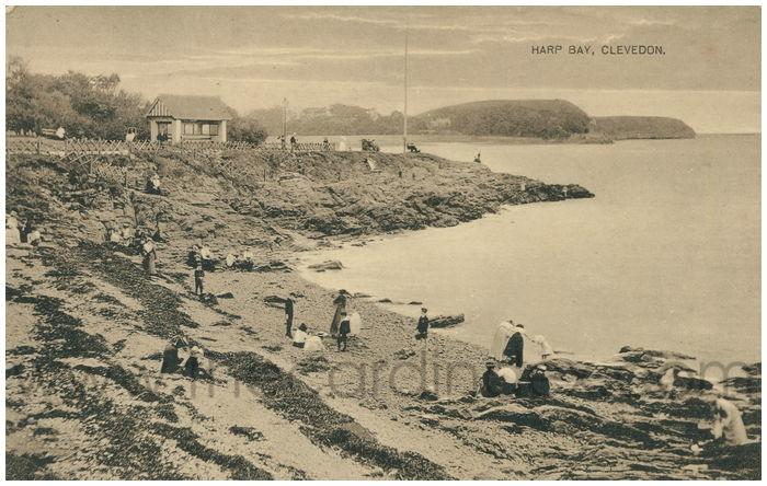 Postcard front: Harp Bay, Clevedon.