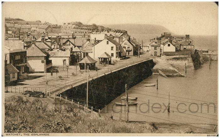 Postcard front: Watchet, The Esplanade
