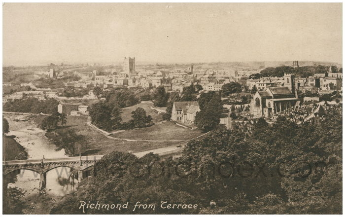 Postcard front: Richmond from Terrace.