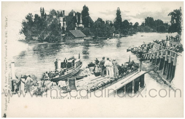 Postcard front: Thames at Taplow