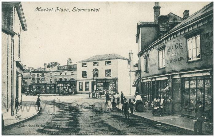 Postcard front: Market Place, Stowmarket