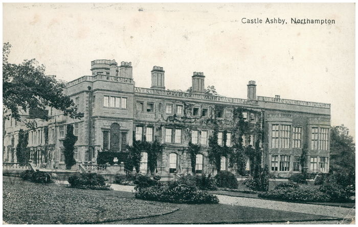 Postcard front: Castle Ashby. Northampton