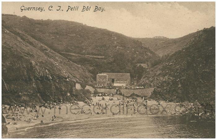 Postcard front: Guernsey, C.I., Petit Bot Bay.