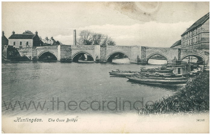 Postcard front: Huntingdon. The Ouse Bridge