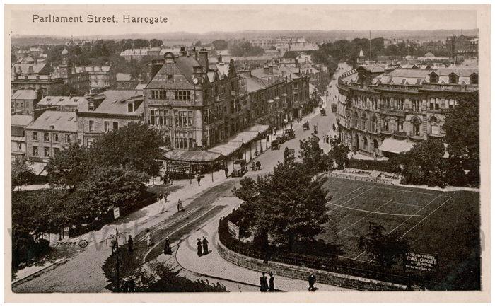 Postcard front: Parliament Street, Harrogate
