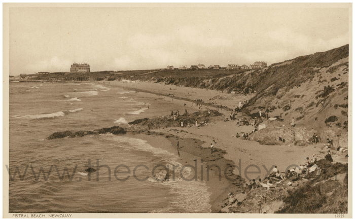 Postcard front: Fistral Beach, Newquay.