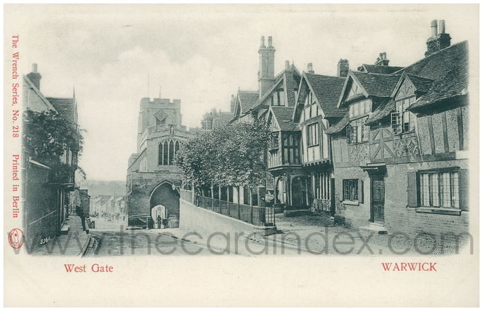Postcard front: West Gate Warwick