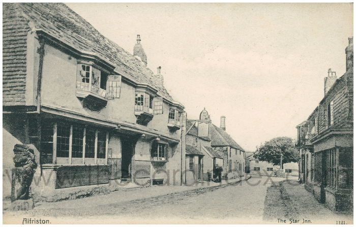 Postcard front: Alfriston. The Star Inn.