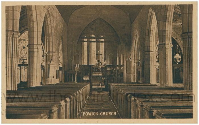 Postcard front: Powick Church