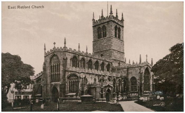 Postcard front: East Retford Church