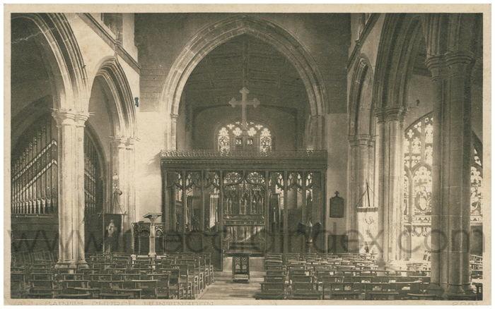 Postcard front: All Saints Church, Huntingdon