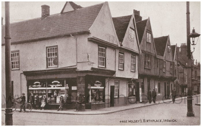 Postcard front: Wolsey's Birthplace, Ipswich