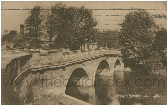 Postcard front: Victoria Bridge, Leamington.