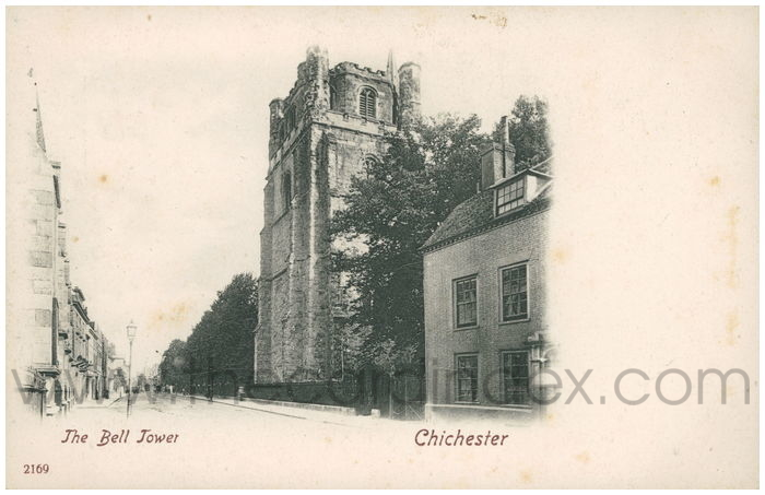 Postcard front: The Bell Tower Chichester