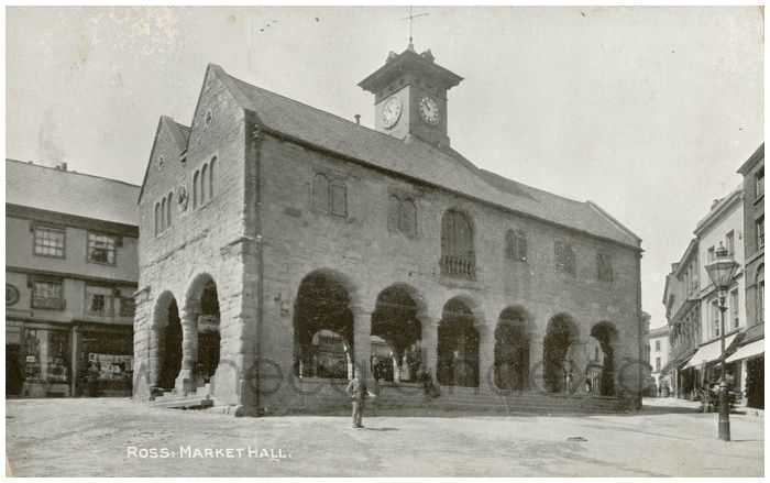 Postcard front: Ross: Market Hall