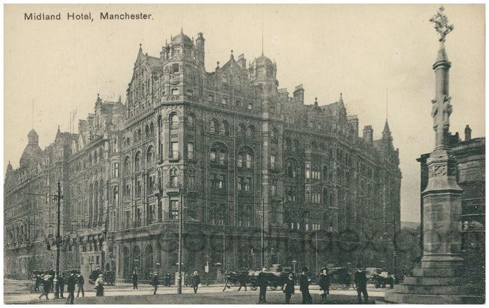 Postcard front: Midland Hotel, Manchester