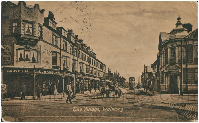 Postcard front: The Village, Wallasey