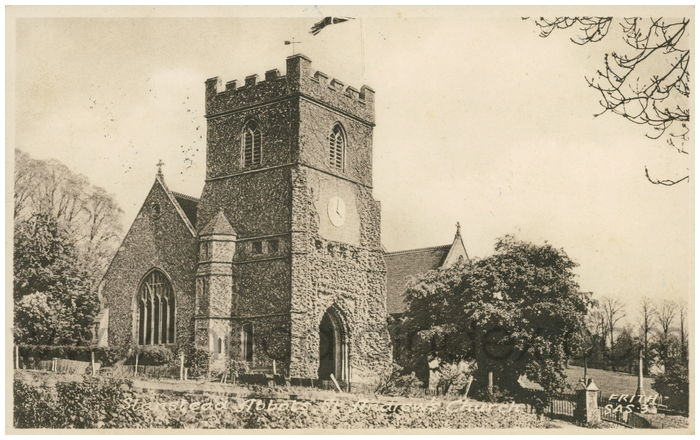 Postcard front: Stanstead Abbots, St. Andrews Church