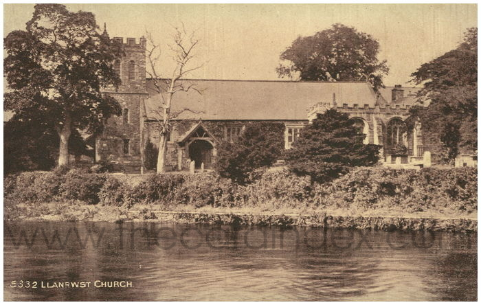 Postcard front: Llanrwst Church