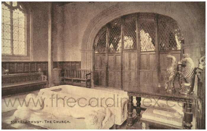 Postcard front: Llanrwst: The Church.