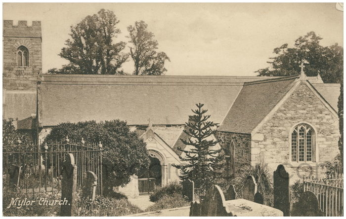 Postcard front: Mylor Church