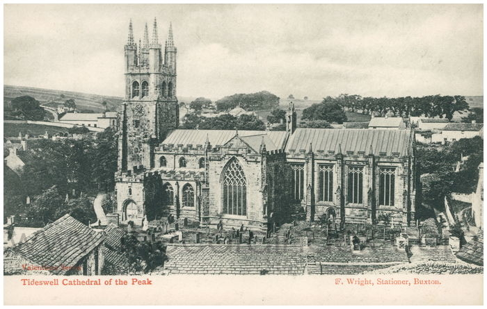 Postcard front: Tideswell Cathedral of the Peak.