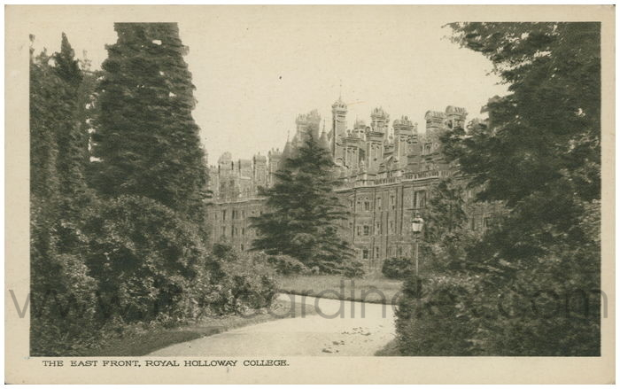Postcard front: The East Front, Royal Holloway College