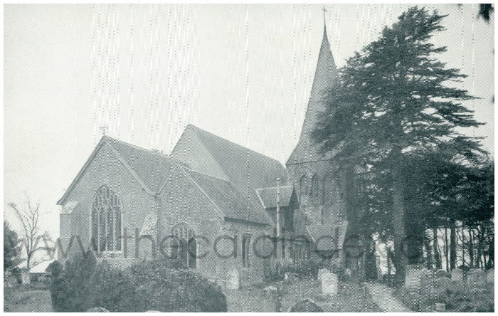Postcard front: The Parish Church. Herstmonceux