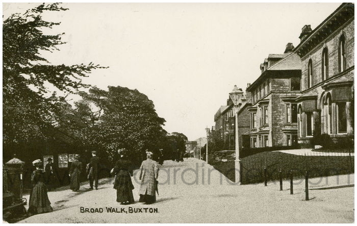 Postcard front: Broad Walk, Buxton