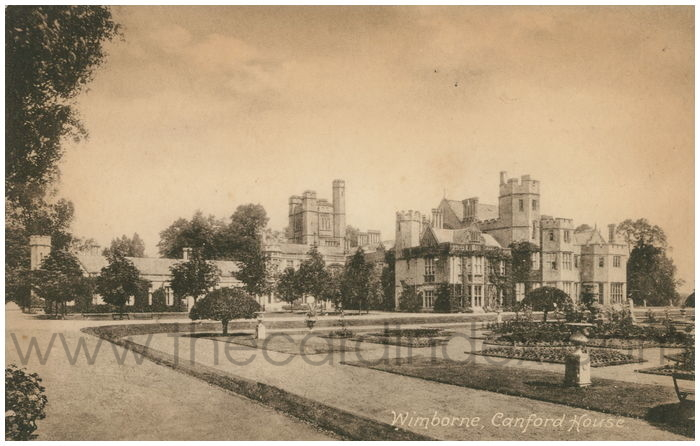 Postcard front: Wimborne, Canford House